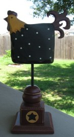 GF110 - Black Rooster on Stand