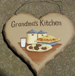 HP14 - Grandma's Kitchen Wood Heart