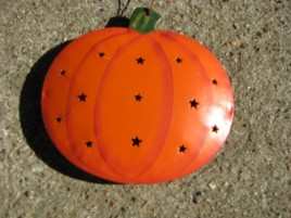 Fall Decor OR-325 Pumpkin Metal Christmas Ornament
