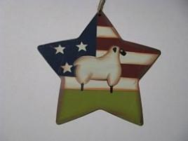 WD1381 - America Sheep Metal Star