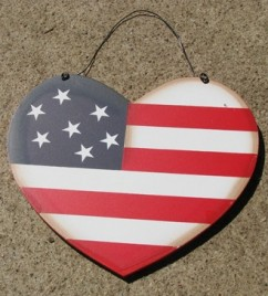 Patriotic Wood Heart