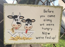 WS108 Before you came along we were hungry...Now we're FED Up! wood sign